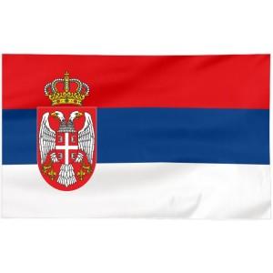 Flaga Serbii 300x150cm