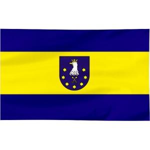 Flaga powiatu Ostrzeszowskiego 120x75cm