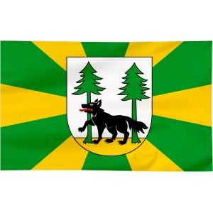 Flaga powiatu Piskiego 120x75cm