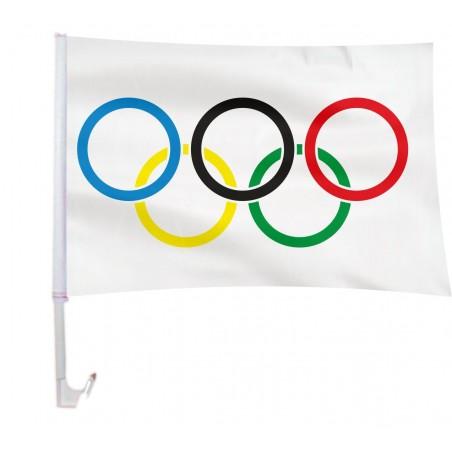 AUTOFLAGA olimpijska 45x30cm flaga samochodowa