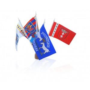 FLAGA 11x6cm CHORĄGIEWKA REKLAMOWA Z DOWOLNYM NADRUKIEM