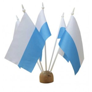 Chorągiewka maryjna biało niebieska 30x19cm