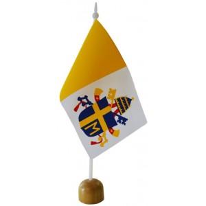 Chorągiewka papieska z herbem Jana Pawła II  11x6cm