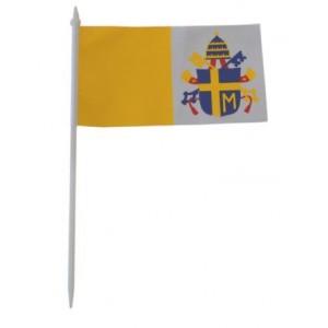 Chorągiewka papieska z herbem Jana Pawła II 17x10cm