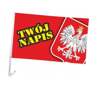 AUTOFLAGA Polski 30x20cm Flaga samochodowa Polski - barwy
