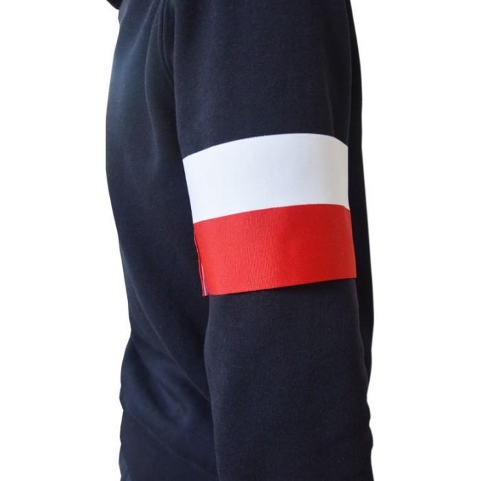 Opaska na ramię biało-czerwona Polska szer. 10 cm DUŻA