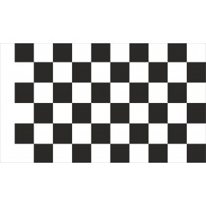 Flaga Wyścigowa Startowa Szachownica Flaga Meta 80x50cm