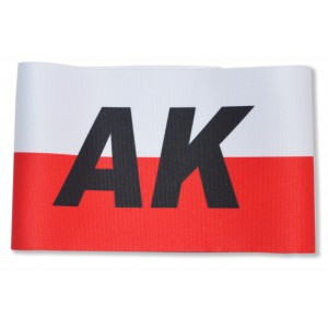 Opaska na ramię biało-czerwona Armia Krajowa AK 44cm