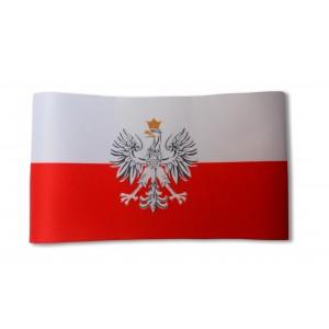 Opaska na ramię biało-czerwona Orzeł RP 44cm