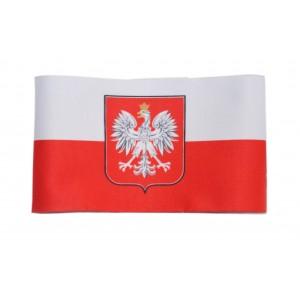 Opaska na ramię biało-czerwona Godło Polski 44cm