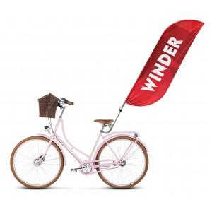 Flaga winder 220x70cm (flaga 160x70cm) z uchwytem do roweru