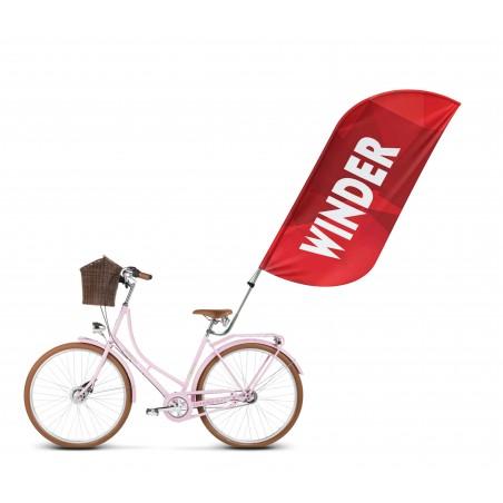 Flaga winder 220x90cm (flaga 160x90cm) z uchwytem do roweru