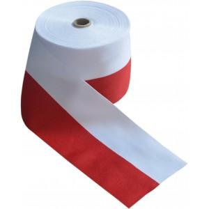 Taśma Wstążka Rypsowa biało-czerwona 15cm