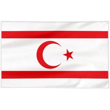 Flaga Cypru Północnego 150x75cm