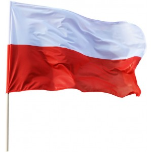 Flaga polski barwy 85x50