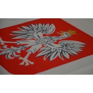 Flaga polski z godłem 120x75cm