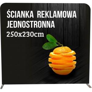 Ścianka reklamowa 250x230cm 3x3 tekstylna PROSTA...