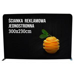 Ścianka reklamowa 300x230cm 4x3 tekstylna PROSTA...