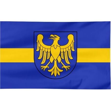 Flaga województwa Śląskiego z herbem 150x90cm
