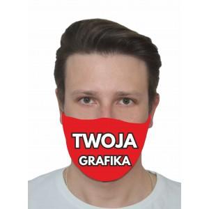 Maseczka ochronna na twarz z dowolnym nadrukiem, logo wielorazowa