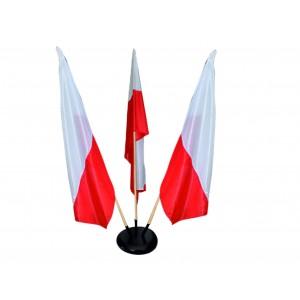Podstawa gabinetowa na 3 flagi
