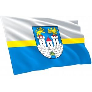 Flaga Częstochowy z herbem 100x60cm
