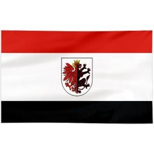 Flaga województwa Kujawsko-pomorskiego z herbem 300x150cm