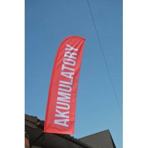 Beach flaga na maszcie winder 450x90cm (390x90cm)