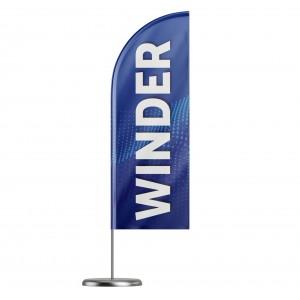 Beach flaga na maszcie winder 330x90cm (250x90cm)