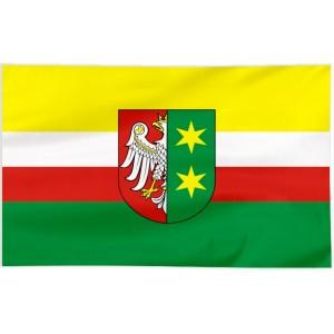 Flaga województwa Lubuskiego z herbem 120x75cm