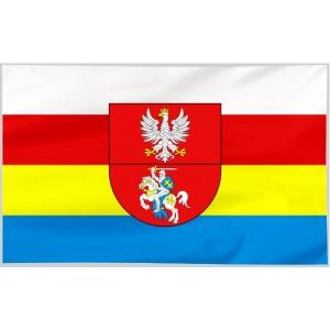 Flaga województwa Podlaskiego z herbem 120x75cm