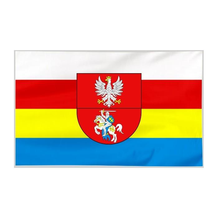Flaga województwa Podlaskiego z herbem 300x150cm