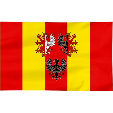 Flaga województwa Łódzkiego z herbem 120x75cm