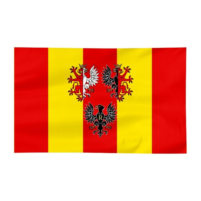 Flaga województwa Łódzkiego z herbem 150x90cm